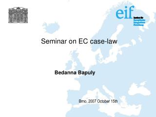 Seminar on EC case-law