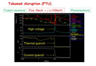 Tokamak disruption (FTU)