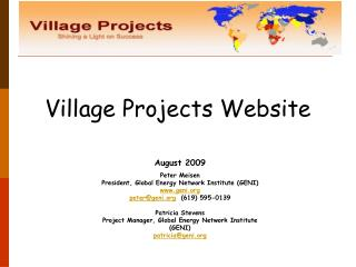 Village Projects Website