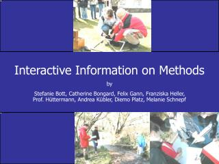 Interactive Information on Methods by