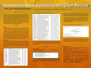 Summative Data, Formative Program Review