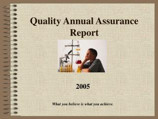 Quality Annual Assurance Report