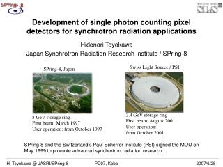 Development of single photon counting pixel detectors for synchrotron radiation applications