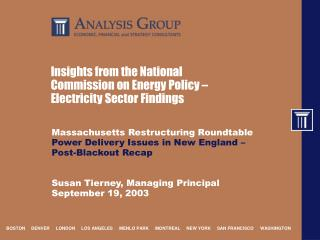 Insights from the National Commission on Energy Policy – Electricity Sector Findings