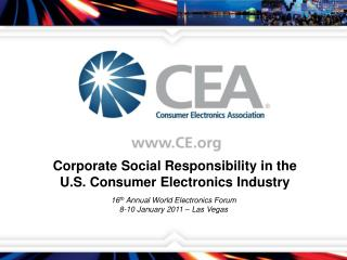 Corporate Social Responsibility in the U.S. Consumer Electronics Industry