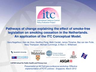 Smoke-free legislation and cessation