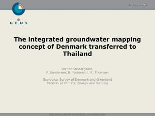 The integrated groundwater mapping concept of Denmark transferred to Thailand
