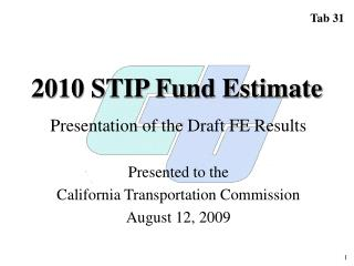 2010 STIP Fund Estimate