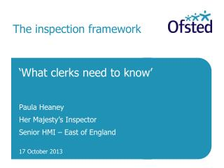 The inspection framework
