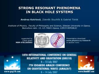 STRONG RESONANT PHENOMENA IN BLACK HOLE SYSTEMS