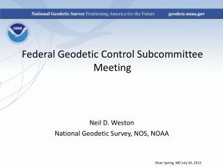 Federal Geodetic Control Subcommittee Meeting