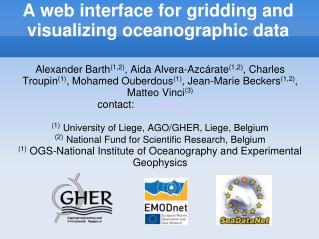 A web interface for gridding and visualizing oceanographic data
