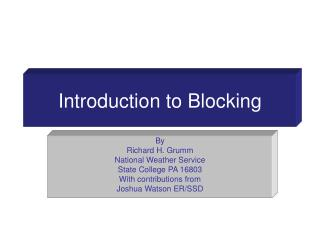 Introduction to Blocking