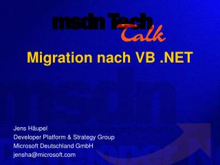 Migration nach VB .NET