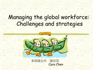 Managing the global workforce:  Challenges and strategies