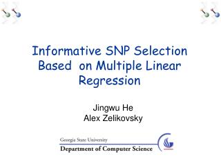 Informative SNP Selection Based  on Multiple Linear Regression