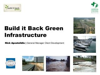 Build it Back Green Infrastructure