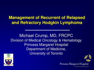 Management of Recurrent of Relapsed and Refractory Hodgkin Lymphoma
