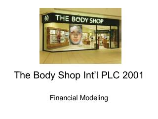 The Body Shop Int'l PLC 2001