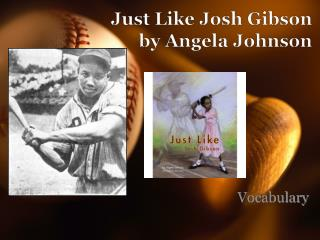 Just Like Josh Gibson by Angela Johnson