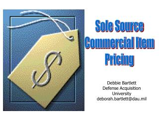 Sole Source Commercial Item Pricing