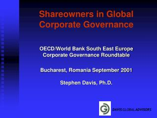 Shareowners in Global Corporate Governance