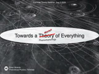 Towards a Theory of Everything