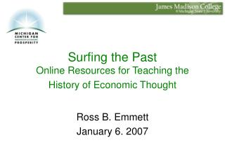 Surfing the Past Online Resources for Teaching the History of Economic Thought