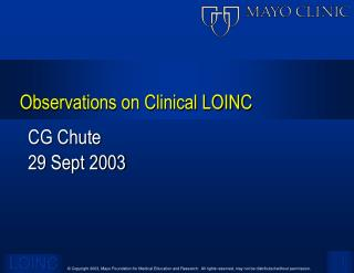 Observations on Clinical LOINC