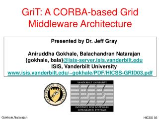 GriT: A CORBA-based Grid Middleware Architecture