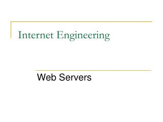 Internet Engineering