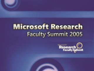 A Snapshot Of MSR: 2005