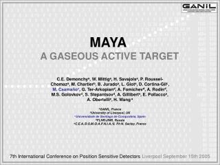 MAYA A GASEOUS ACTIVE TARGET