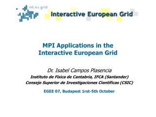 MPI Applications in the Interactive European Grid