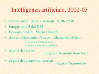 Intelligenza artificiale, 2002-03