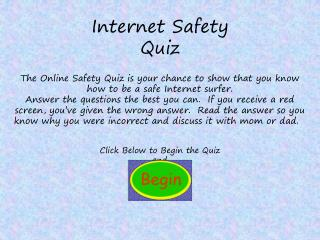 Internet Safety Quiz