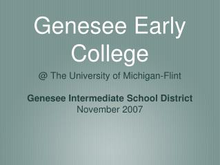 Genesee Early College