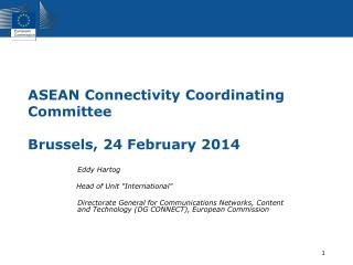ASEAN Connectivity Coordinating Committee Brussels, 24 February 2014