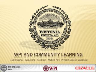 WPI and Community Learning