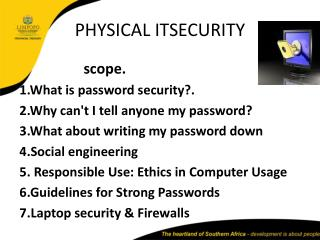 PHYSICAL ITSECURITY