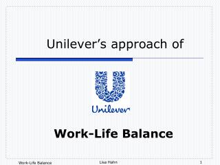 Unilever's approach of