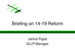 Briefing on 14-19 Reform