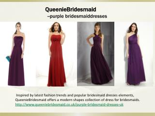 Buy purple bridesmaid dresses online