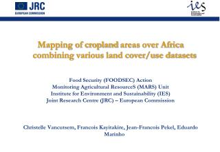 Mapping of cropland  areas  over Africa combining various land cover/use datasets