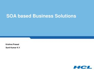 SOA based Business Solutions