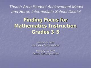 Finding Focus for Mathematics Instruction Grades 3-5