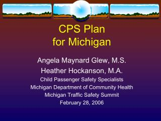 CPS Plan for Michigan