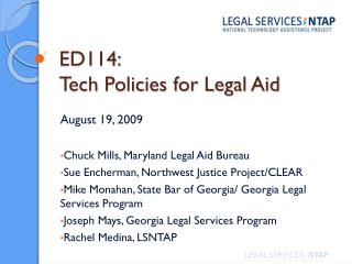 ED114:  Tech Policies for Legal Aid