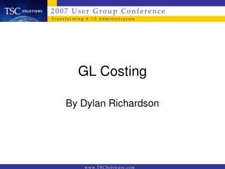 GL Costing
