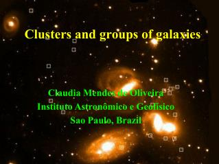 Clusters and groups of galaxies